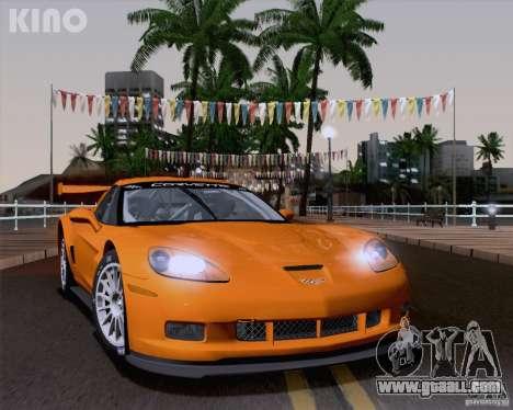 Chevrolet Corvette C6 Z06R GT3 v1.0.1 for GTA San Andreas back left view