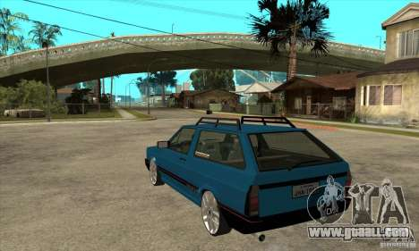VW Parati GLS 1989 JHAcker edition for GTA San Andreas back left view
