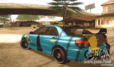 Subaru Impreza WRX STI Futou Battle for GTA San Andreas left view