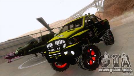 Dodge Ram 4x4 for GTA San Andreas right view