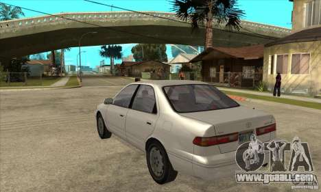 Toyota Camry 2.2 LE 1997 for GTA San Andreas back left view