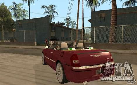 Chrysler 300c Roadster Part2 for GTA San Andreas back left view