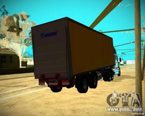 The Trailer Krone Biedra for GTA San Andreas left view
