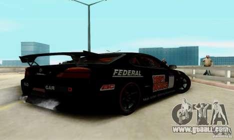 Nissan Silvia S15 Tunable for GTA San Andreas interior