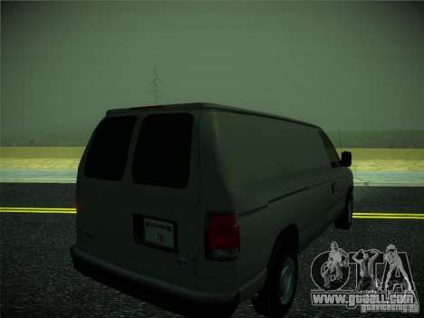 Ford E150 2000 for GTA San Andreas back left view