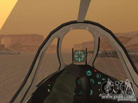 MiG 15 with weapons for GTA San Andreas bottom view