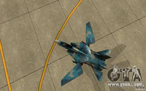 F-14 Tomcat Blue Camo Skin for GTA San Andreas back view