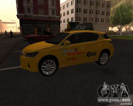 Lexus CT 200h 2011 Taxi for GTA San Andreas left view