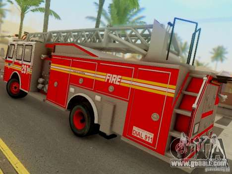 E-One FDNY Ladder 291 for GTA San Andreas left view