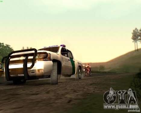 Chevrolet Silverado Police for GTA San Andreas upper view