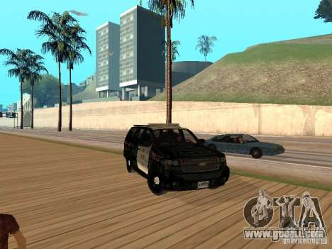 Chevrolet Tahoe Ontario Highway Police for GTA San Andreas left view