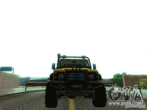 Land Rover Defender Off-Road for GTA San Andreas side view