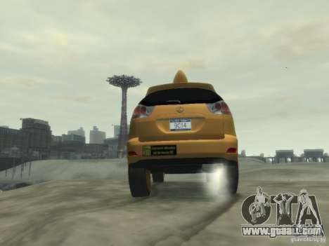 Lexus RX400 New York Taxi for GTA 4 upper view