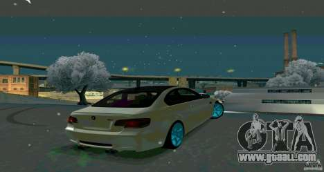 BMW E92 for GTA San Andreas left view