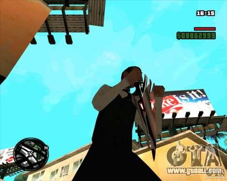 Chrome black red gun pack for GTA San Andreas sixth screenshot