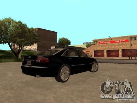 Audi A8 W12 S-Line for GTA San Andreas right view