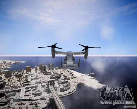 Osprey MV-22 for GTA 4 back view