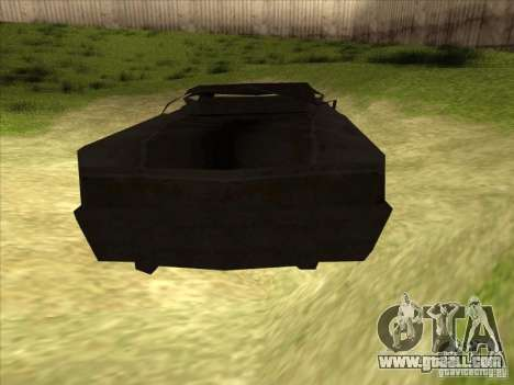 Real Ghostcar for GTA San Andreas back left view