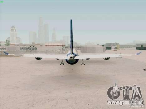 Airbus A-340-600 for GTA San Andreas back left view