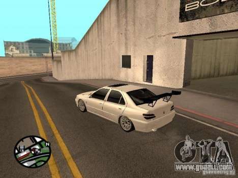 Peugeot 406 Tuning for GTA San Andreas back left view