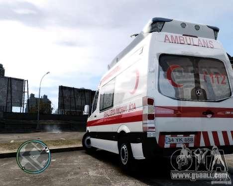 Mercedes Sprinter Turkish Ambulance for GTA 4 right view