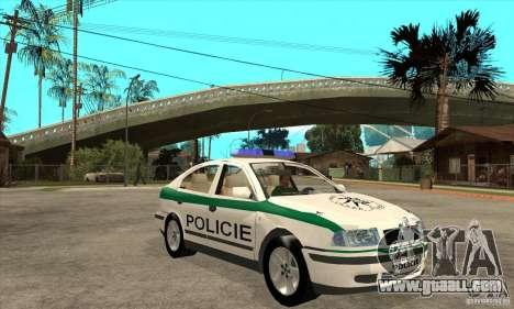 Skoda Octavia Police CZ for GTA San Andreas back view