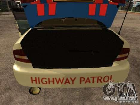 Mitsubishi Galant Police Indanesia for GTA San Andreas back view