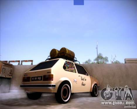 Volkswagen Golf MK1 rat style for GTA San Andreas left view
