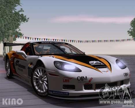 Chevrolet Corvette C6 Z06R GT3 v1.0.1 for GTA San Andreas inner view