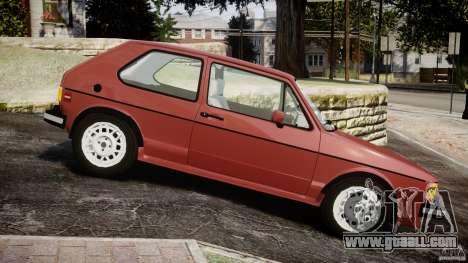 Volkswagen Rabbit 1986 for GTA 4 left view