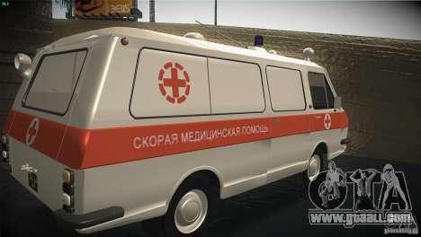 RAF 22031 ambulance for GTA San Andreas back view