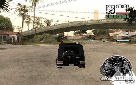Mercedes-Benz G500 FBI for GTA San Andreas back view