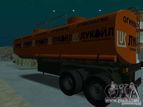 Tank Lukoil for GTA San Andreas back left view