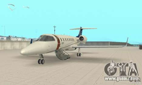 Bombardier Leardjet 45XR for GTA San Andreas left view