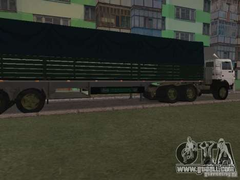 KAMAZ 5410 for GTA San Andreas back view