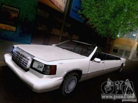 Stretch Cabrio for GTA San Andreas back left view
