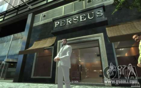 Great gray-white costume for GTA 4 forth screenshot