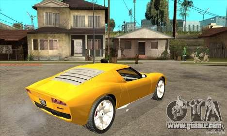 Lamborghini Miura Concept 2006 for GTA San Andreas right view