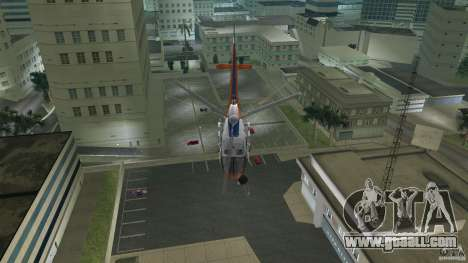 Eurocopter As-350 TV Neptun for GTA Vice City side view