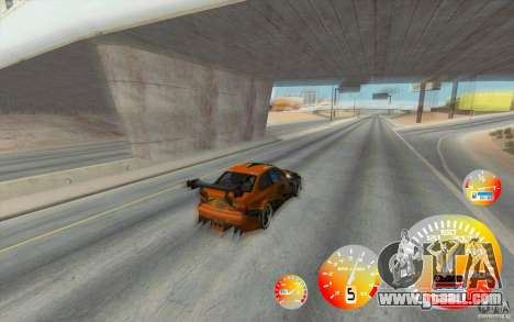 CraZZZy Speedometer v. 1.2 + Limited diesel for GTA San Andreas second screenshot