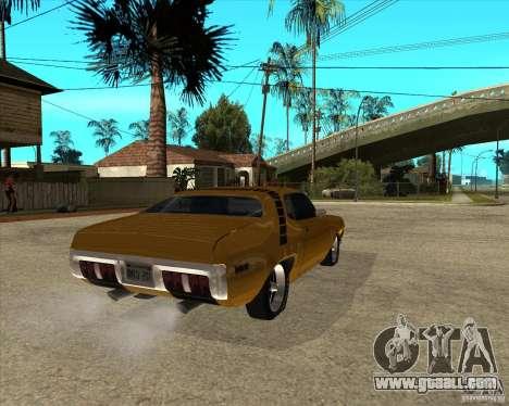 1971 Plymouth Roadrunner 440 for GTA San Andreas back left view