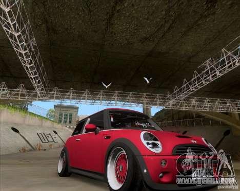 Mini Cooper S Euro for GTA San Andreas right view