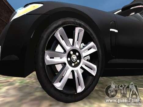 Jaguar XFR for GTA 4 bottom view