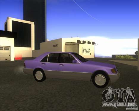 Mercedes Benz 400 SE W140 (Wheels style 3) for GTA San Andreas left view