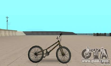 Trial bike for GTA San Andreas back left view