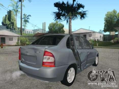 LADA Kalina sedan for GTA San Andreas bottom view