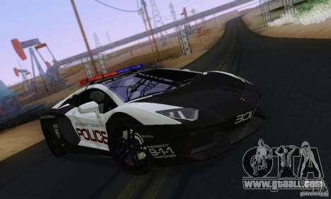 Lamborghini Aventador LP700-4 Police for GTA San Andreas