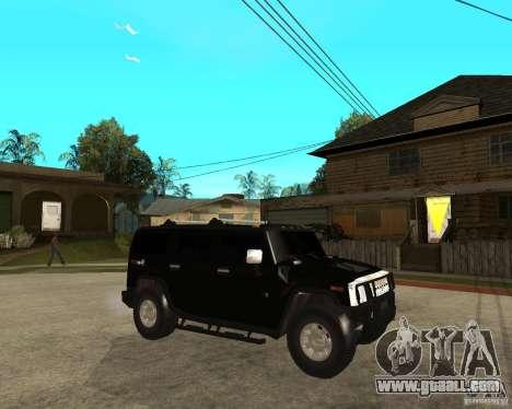 AMG H2 HUMMER SUV FBI for GTA San Andreas right view