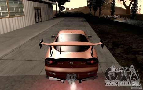 Mazda RX-7 Hellalush for GTA San Andreas right view