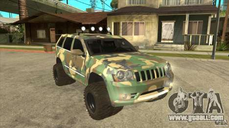 Jeep Grand Cherokee SRT8 Camo for GTA San Andreas back view